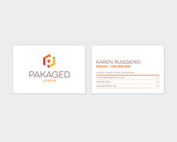 Pakaged Studio Business Card Design