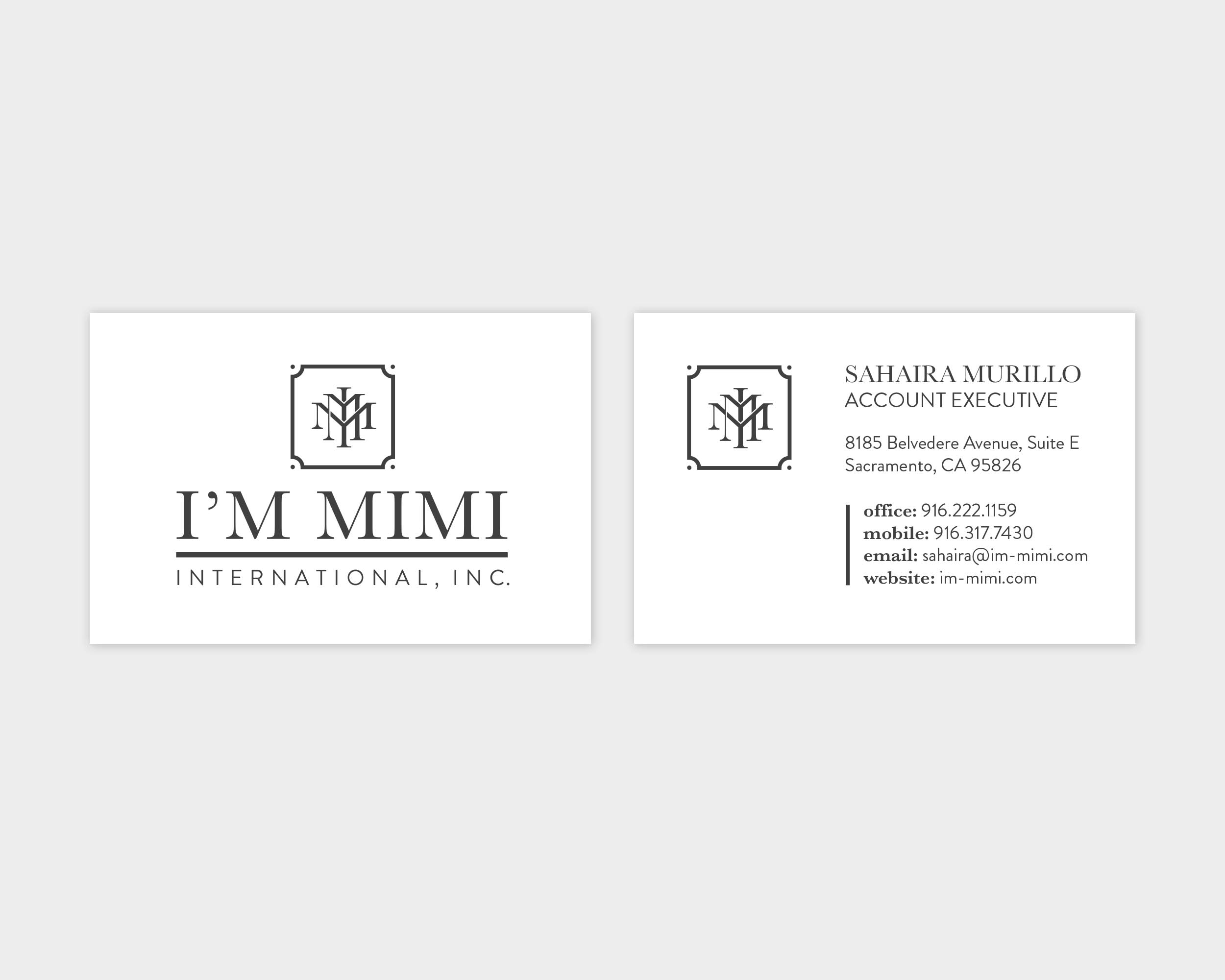 I'm Mimi International Business Card Design