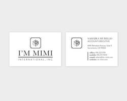 I'm Mimi International Business Card Design