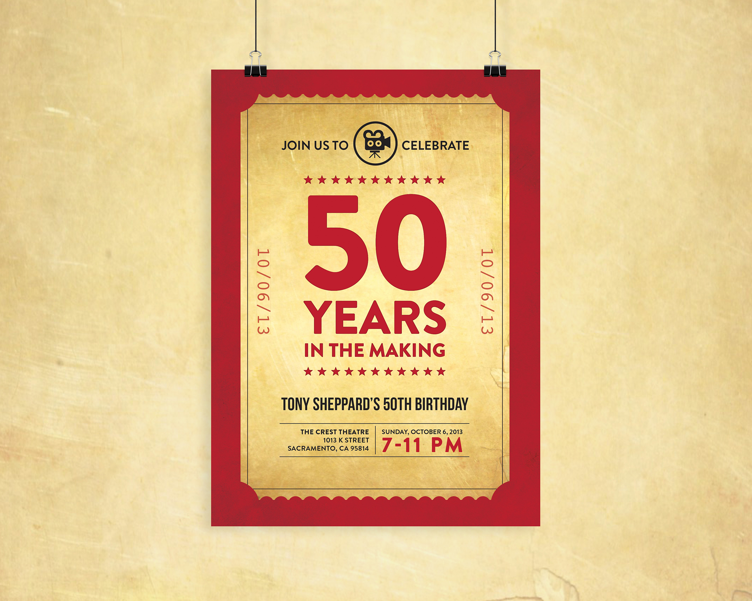 50 Years In The Making Birthday Poster