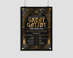 Great Gatsby Party Poster