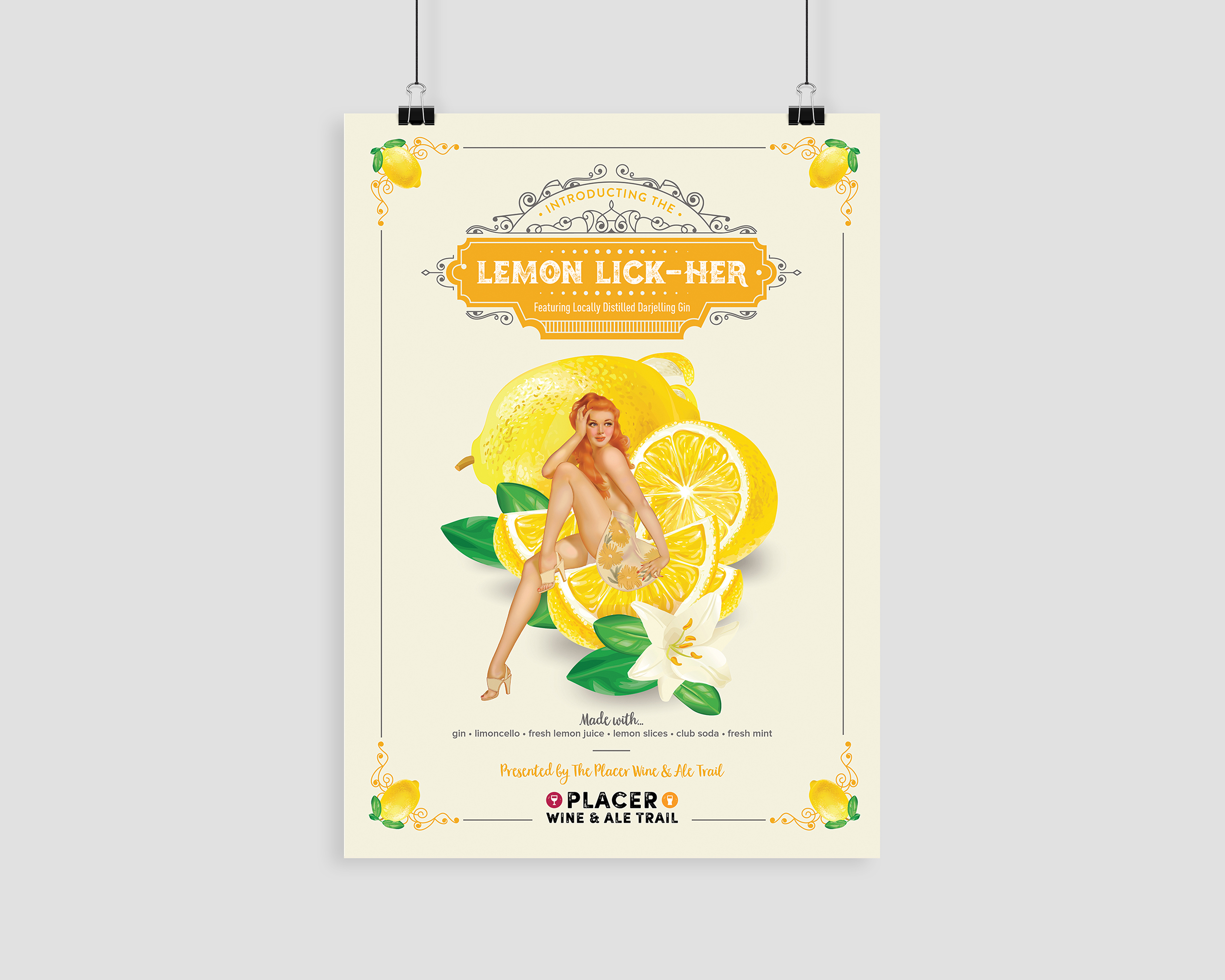 Lemon Lick-Her Poster for Placer Wine & Ale Trail