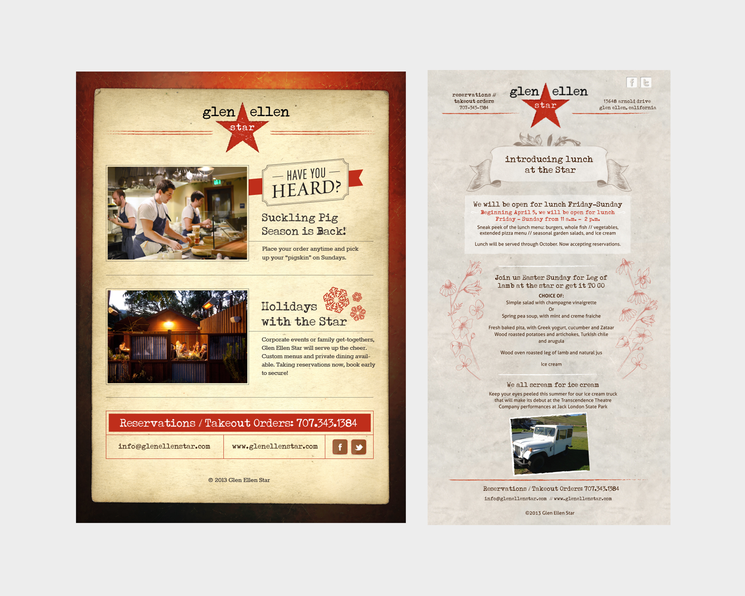 Glen Ellen Star Email Blasts