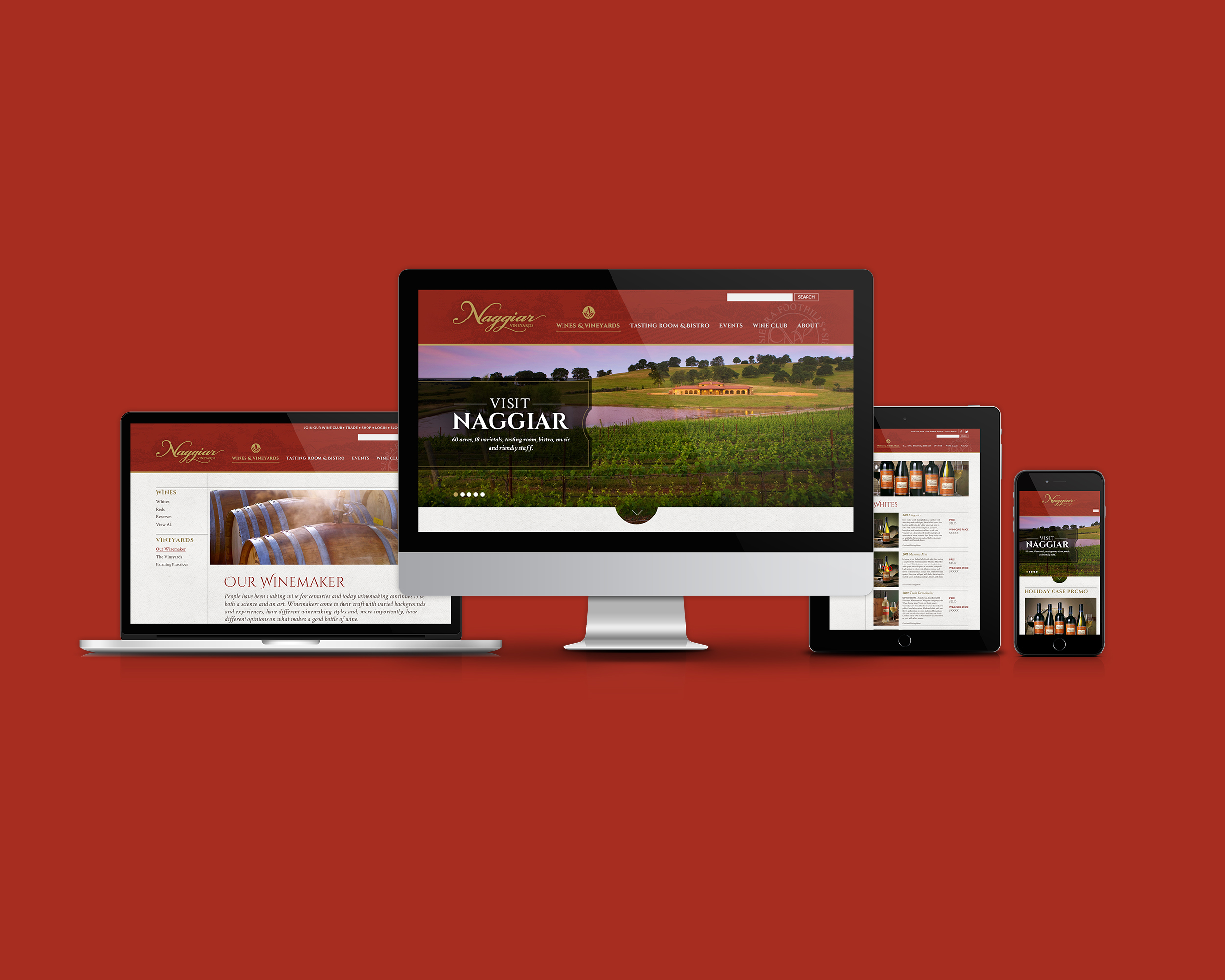 Naggiar Vineyards Website