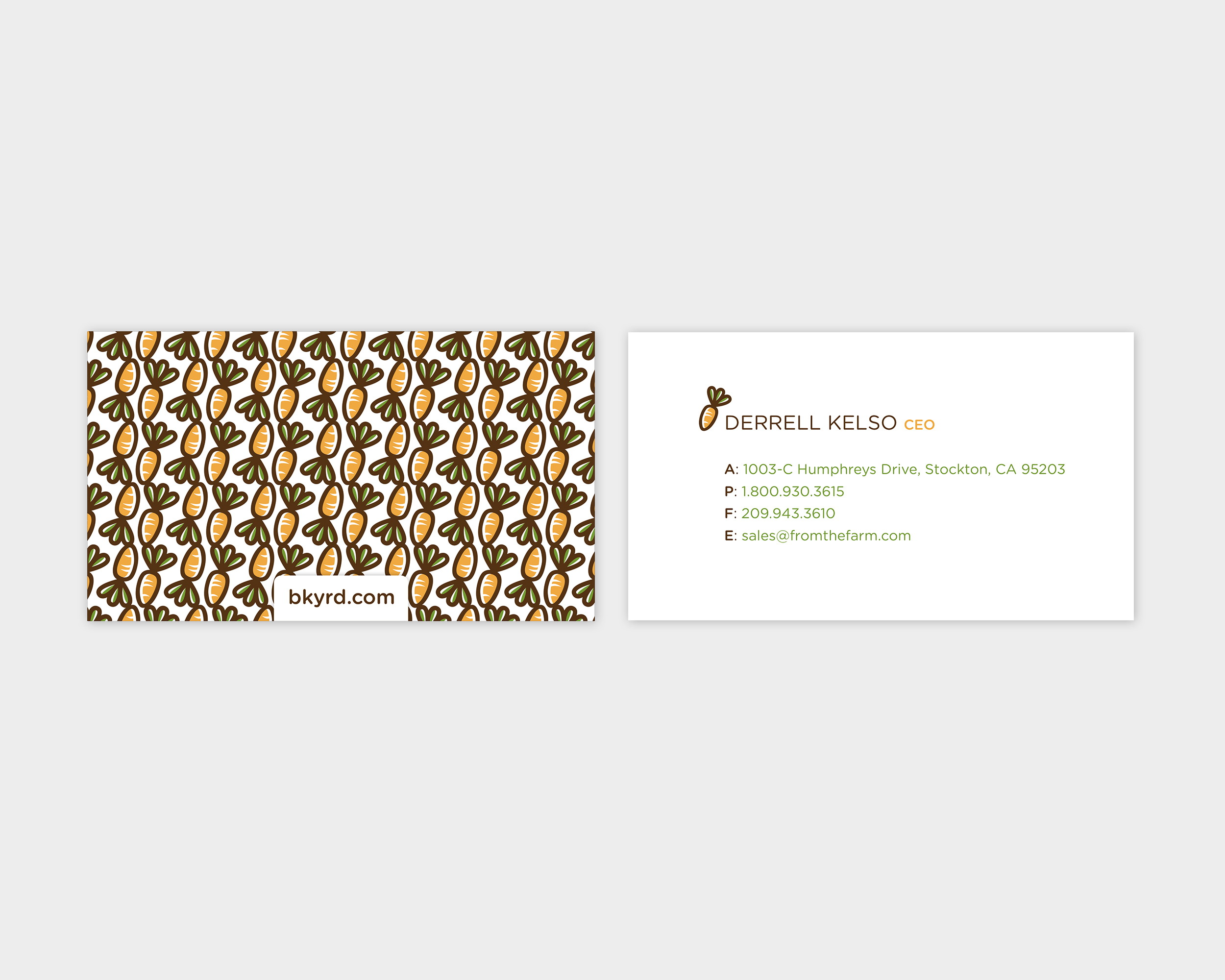 bkyrd Business Card Design