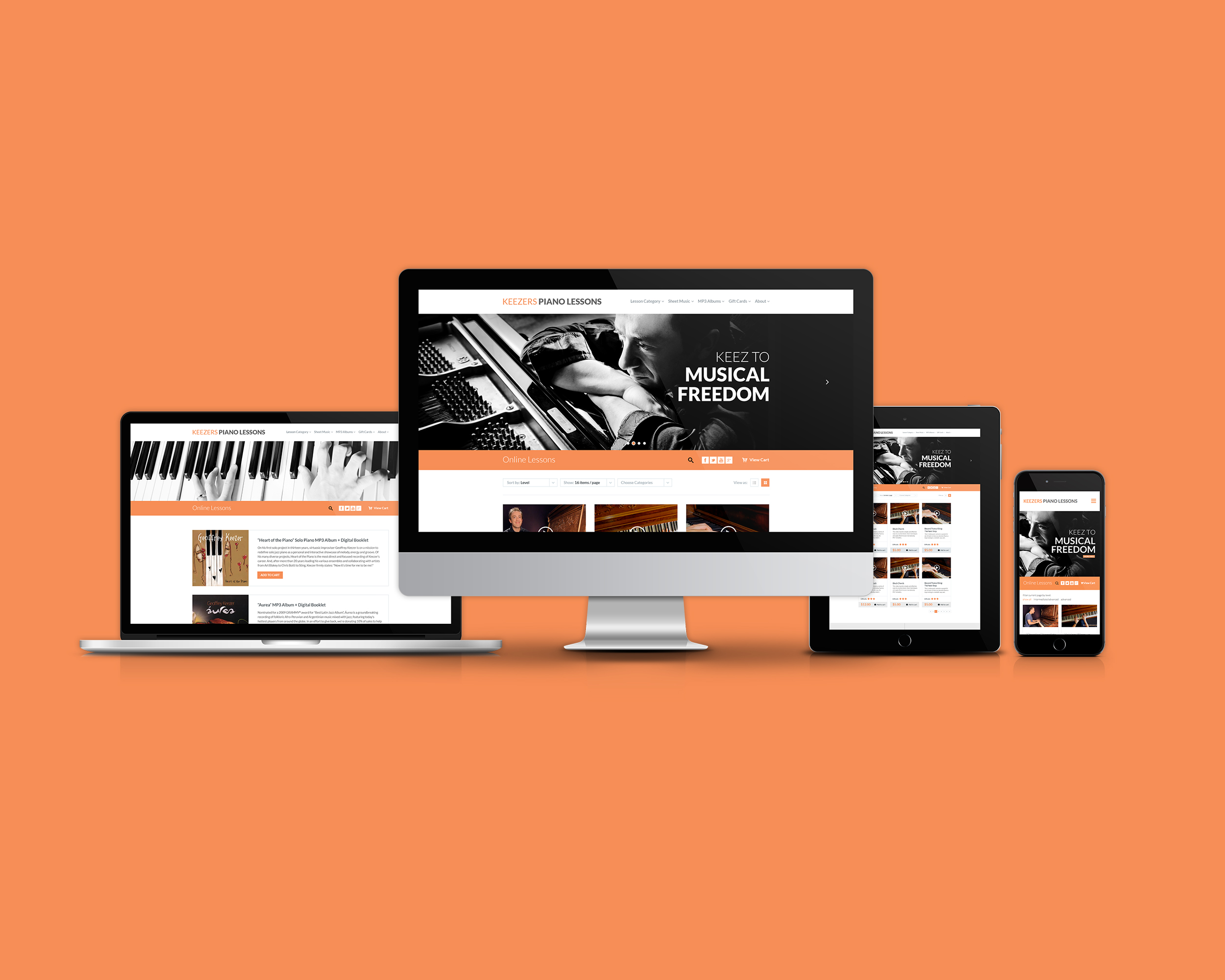 Keezer's Piano Lessons Website