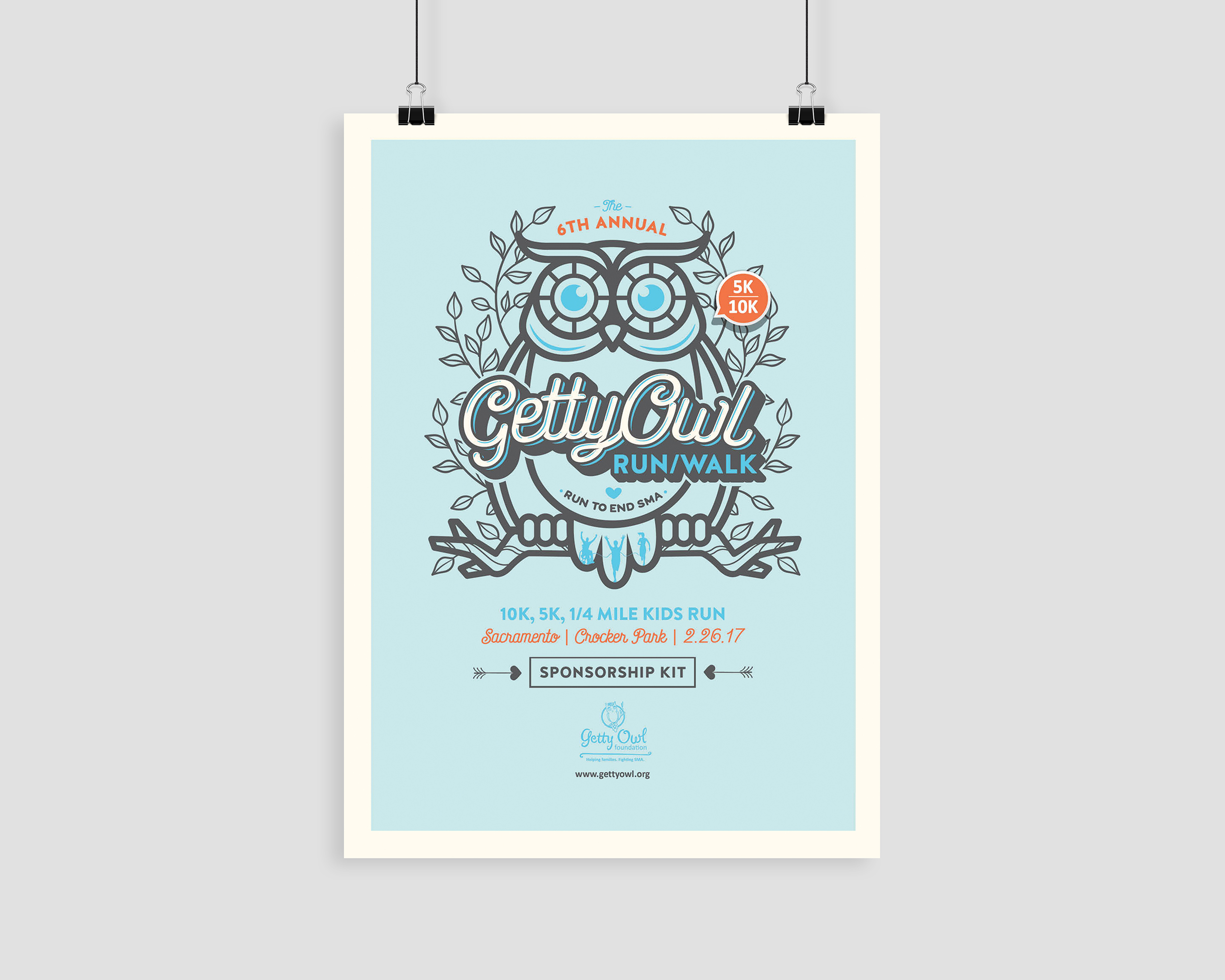 6th Annual Getty Owl Run Poster