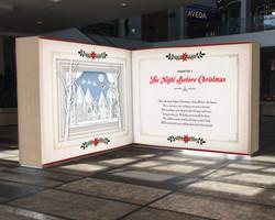 Christmas Book Wall Design