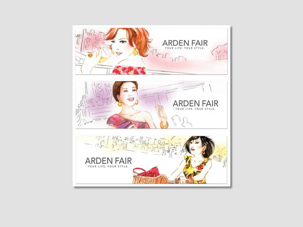 Arden Fair Mall Watercolor Illustration