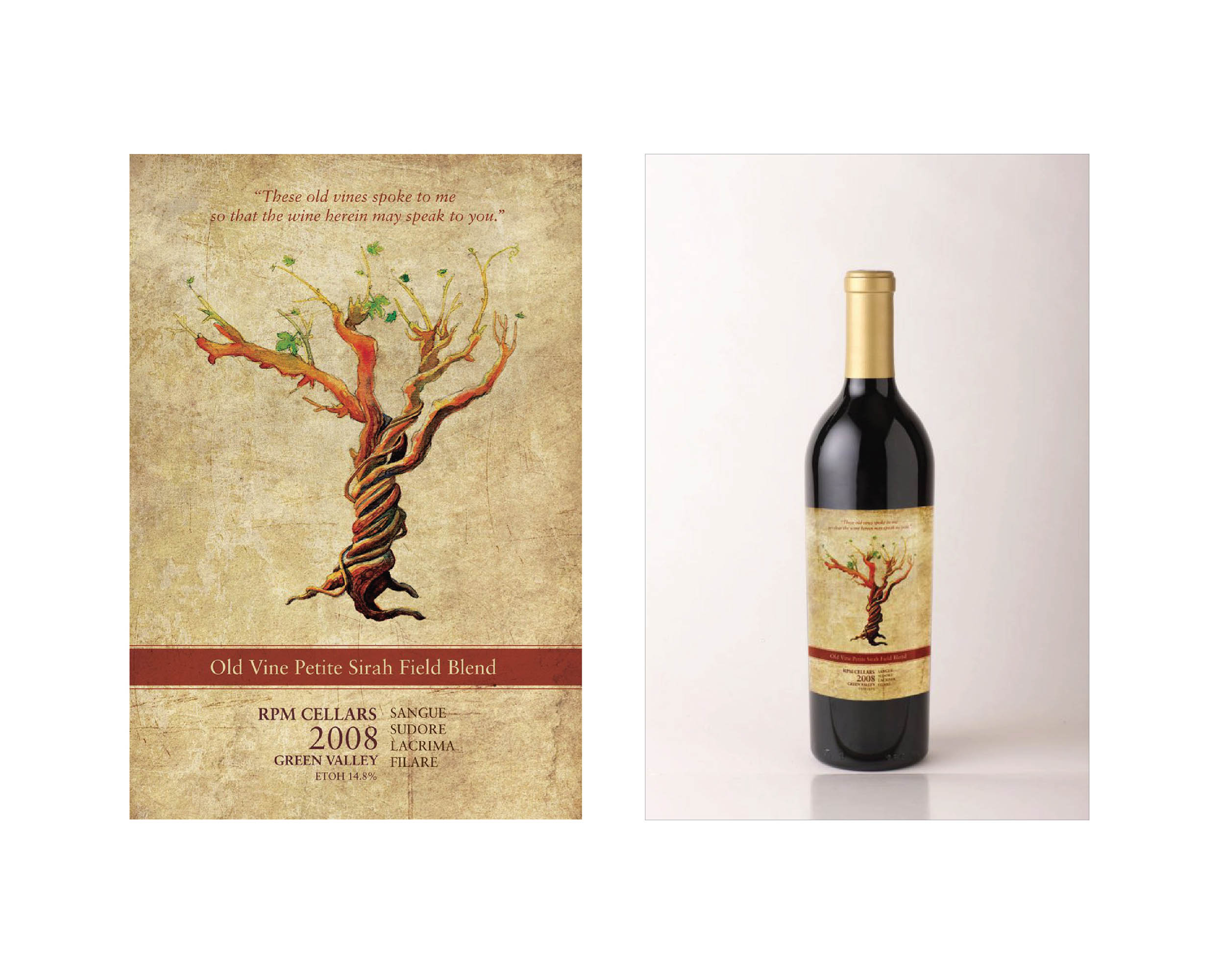 RPM Cellars Illustration and Wine Label Design