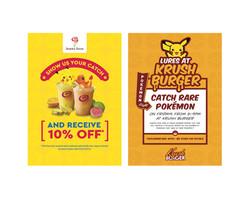 Jamba Juice and Krush Burger Pokémon Go Posters