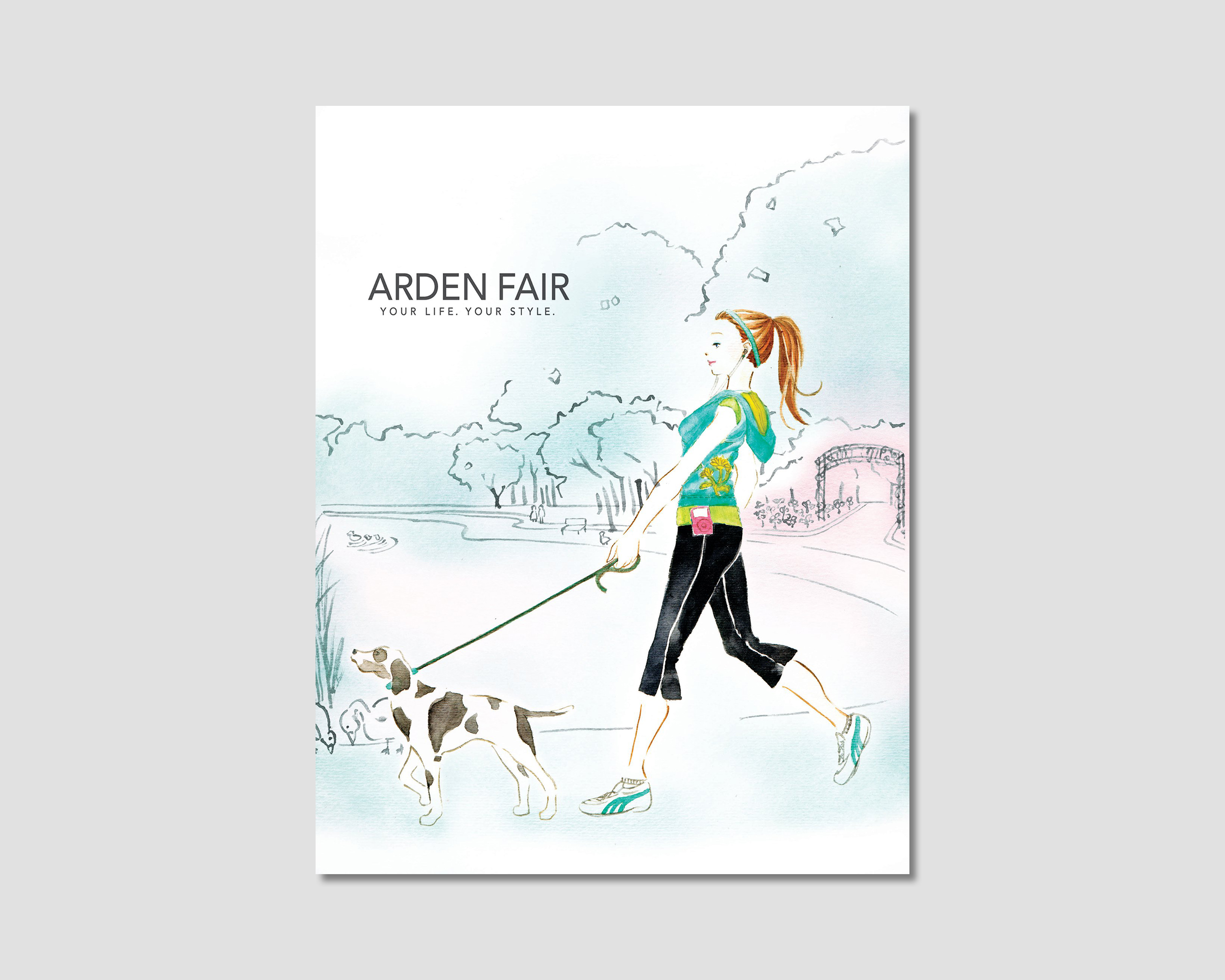 Arden Fair Mall Illustration and Print Ad
