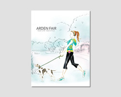 Arden Fair Mall Illustration and Print Ad
