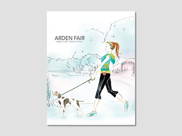 Arden Fair Mall Watercolor Illustration
