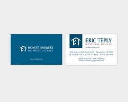 Eric Teply Mortgage Advisor Business Card Design