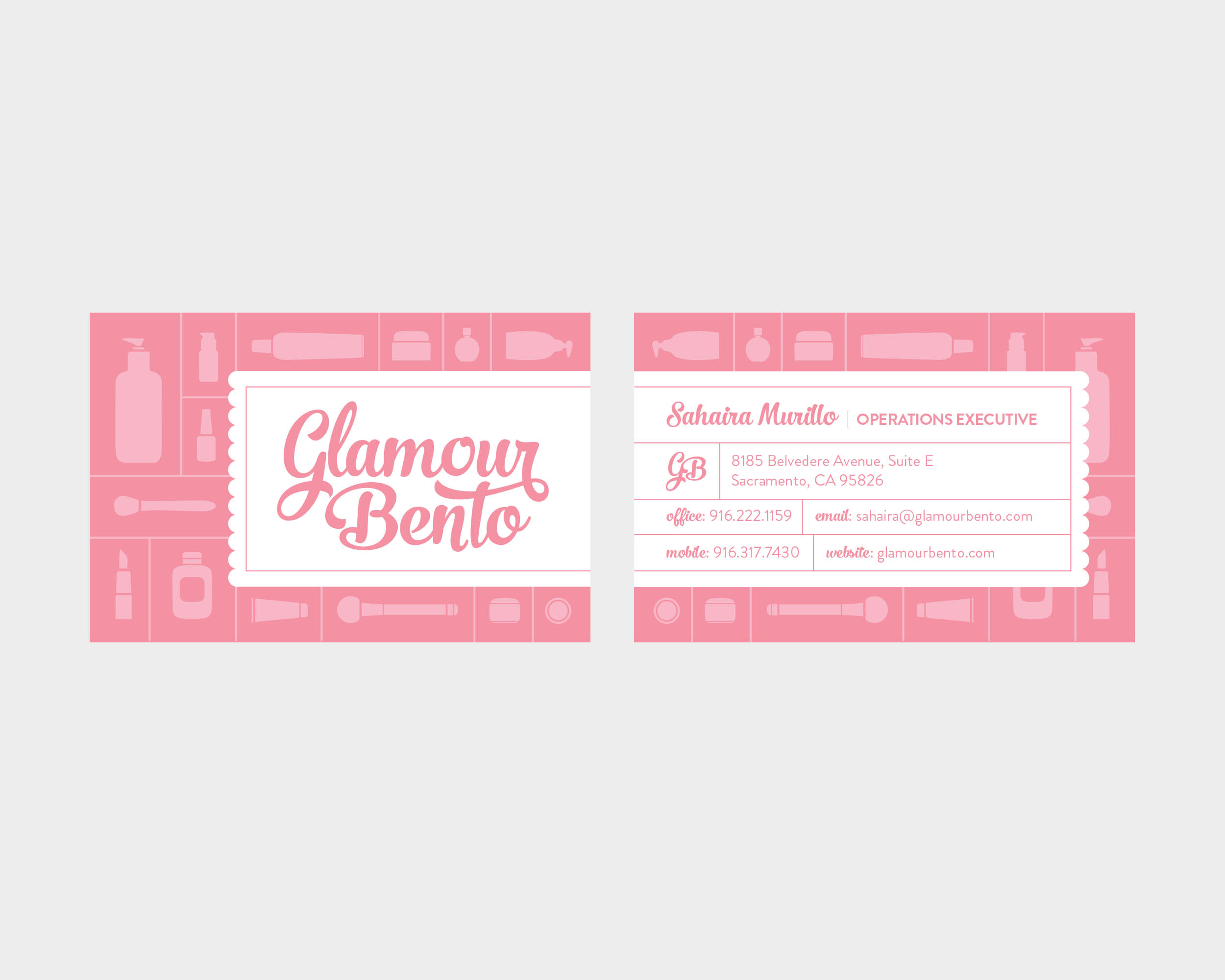 Glamour Bento Business Card Design