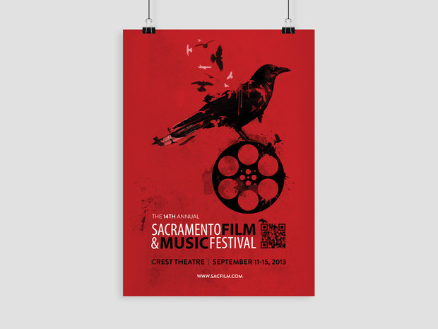Sacramento Film & Music Festival Painting and Poster