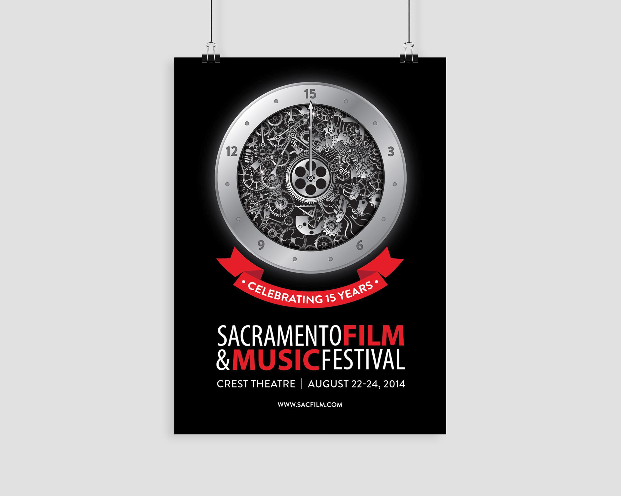 15th Anniversary Sacramento Film & Music Festival Poster