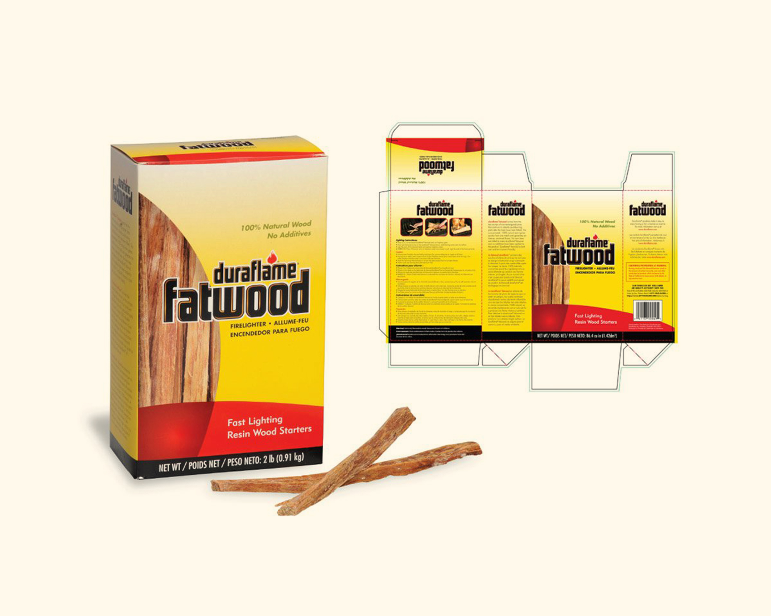 Duraflame Fatwood Package Design