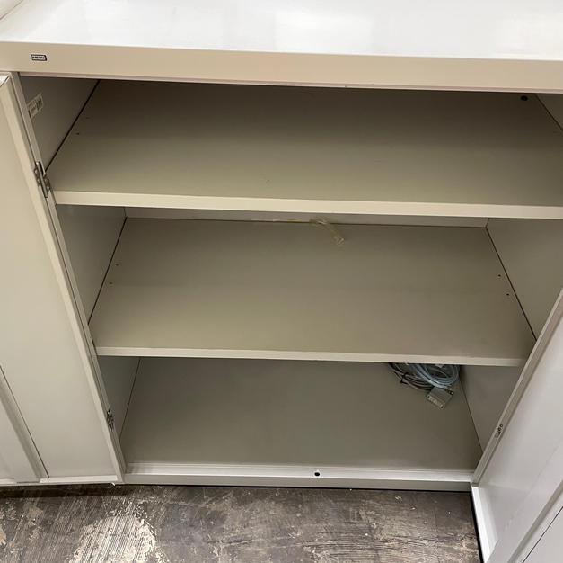 Hon Two Door Cabinet Inside
