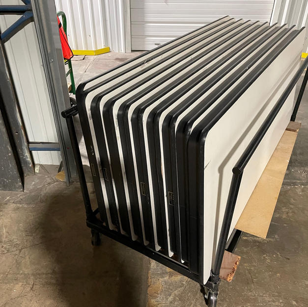 Folding Tables with Cart
