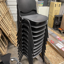 Black Plastic Stack Chairs