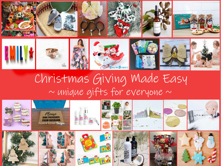 Christmas Giving Made Easy ~ unique gifts for everyone on your list!