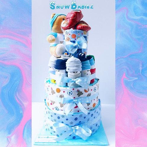 SnowBabiez TOWER Nappy Cake - BOY