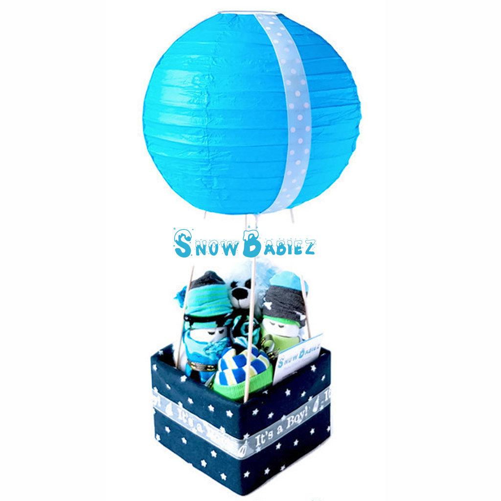 Original Hot Air Balloon Hamper Boy Snowbabiez Baby Gi