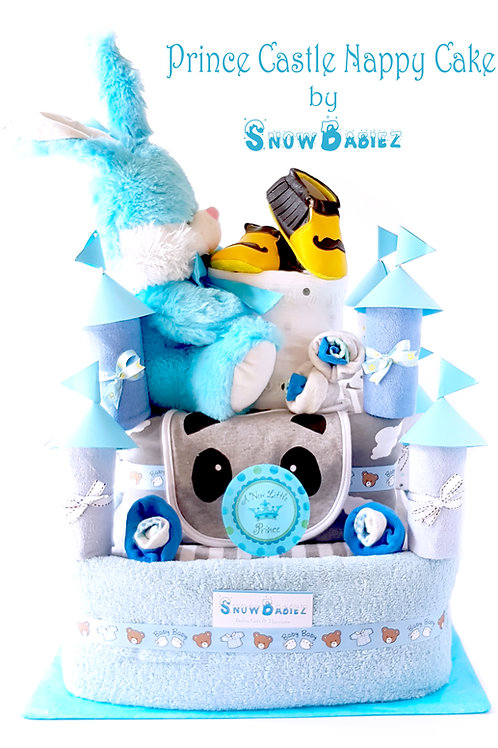 prince castle nappy cake in blue colour