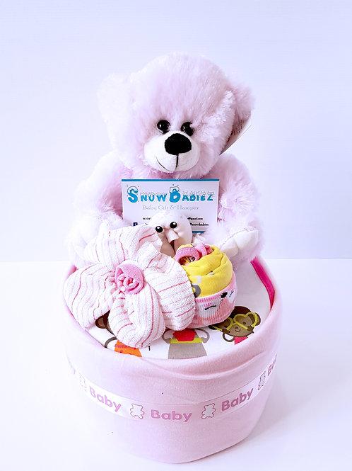 1 Tier SnowBabiez Nappy Cake - Girl