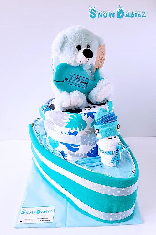 Tug Boat Nappy Cake - Boy