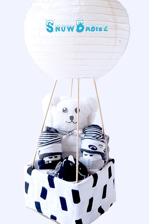 Monochrome Hot Air Balloon Baby Hamper