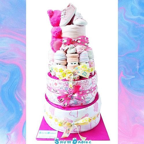 SnowBabiez TOWER Nappy Cake - GIRL