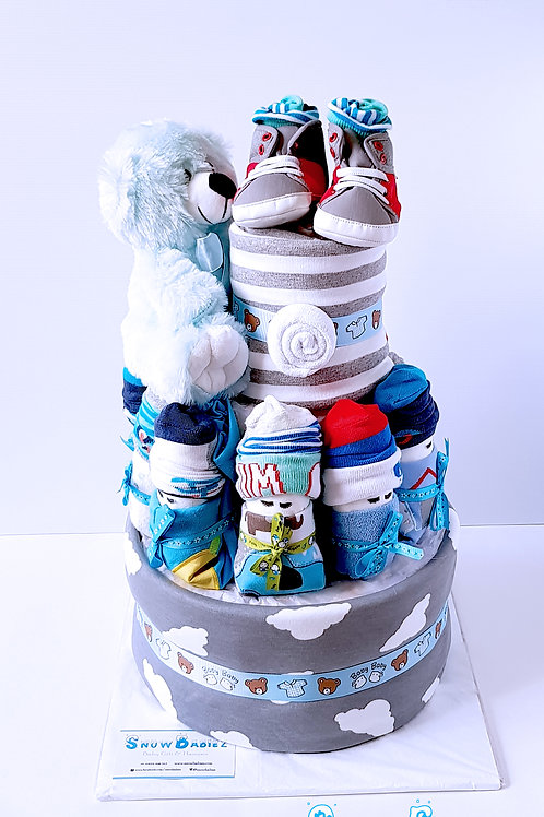 3 Tier SnowBabiez Hamper - Boy