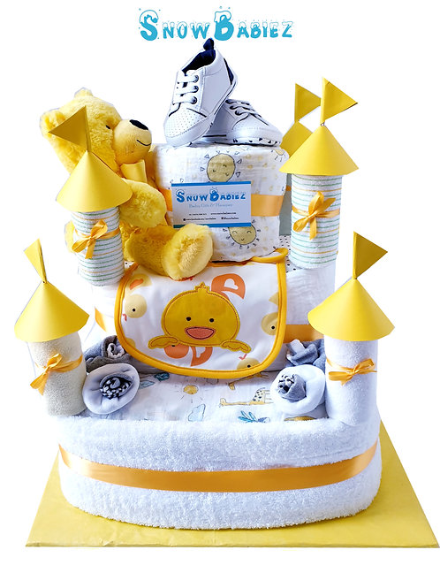 Royal Castle Nappy Cake
