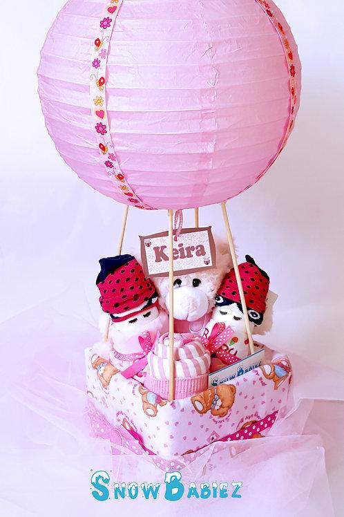 Original Hot Air Balloon Hamper - Girl