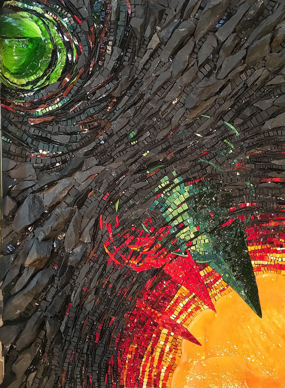 2016; Smalti, Marble, Slate; 22 x 18 in; $1000