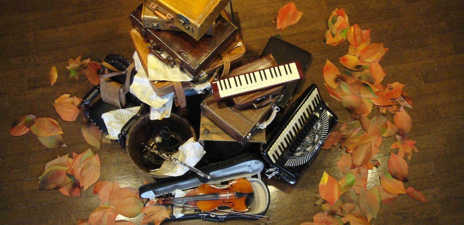 楽器と落ち葉.JPG