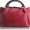 Thumbnail: The Classy leather Fur Hobo - Red