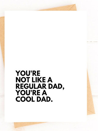 Funny Father's Day Card Cool Dad Card