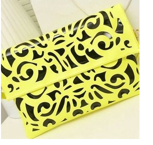 Fluo Envelope Clutch Yellow