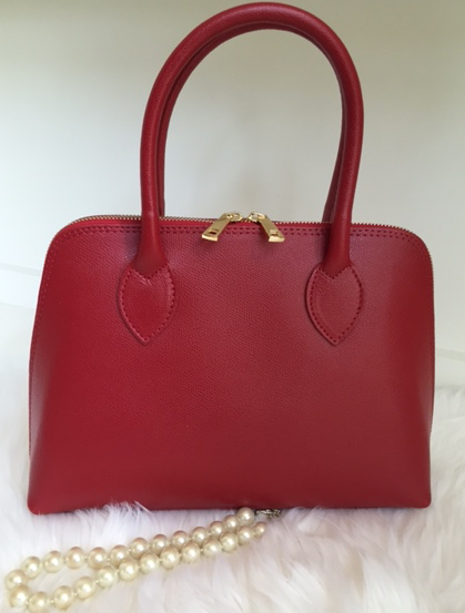 The Saffiano leather- Red