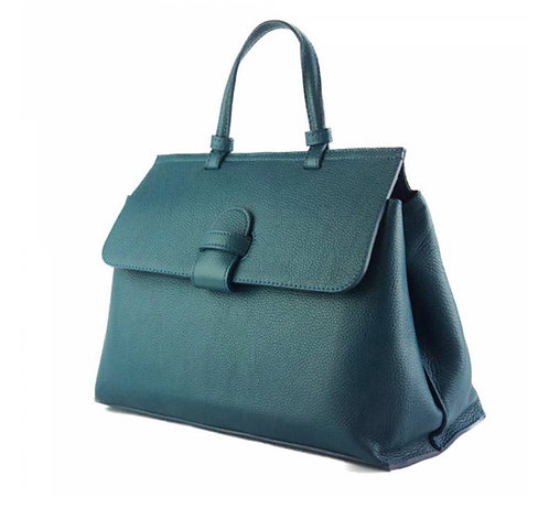 The Tita leather satchel - Teal