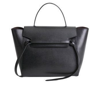 The Trapeze Bolsa Satchel - Black