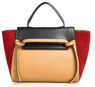 The Trapeze Bolsa Satchel - Red And Brown