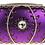 Thumbnail: Olive Diamond Crystal Clutch - Purple