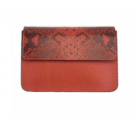 The Iolanda Leather cross body-red