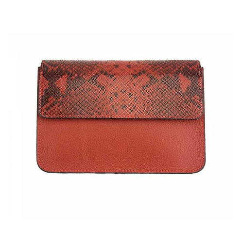The Iolanda Leather cross body-red