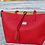 Thumbnail: The Venetian Leather Tote With Makeup Pouch - Red